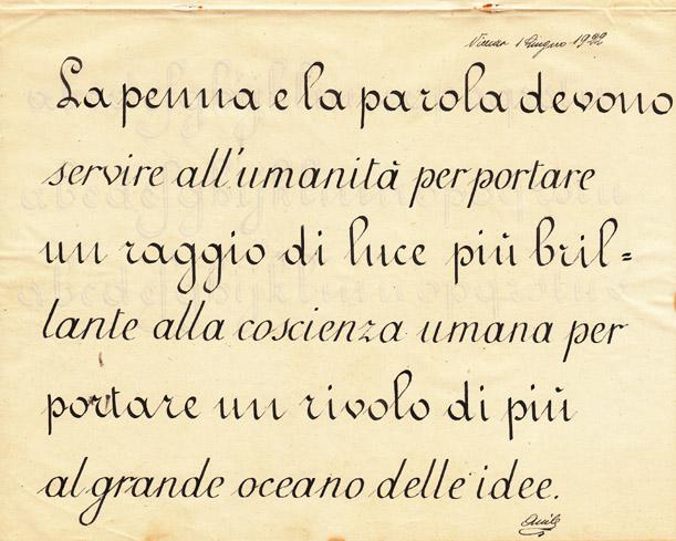 La bella calligrafia la scuola di una volta - Modello di scrittura vichingo ...