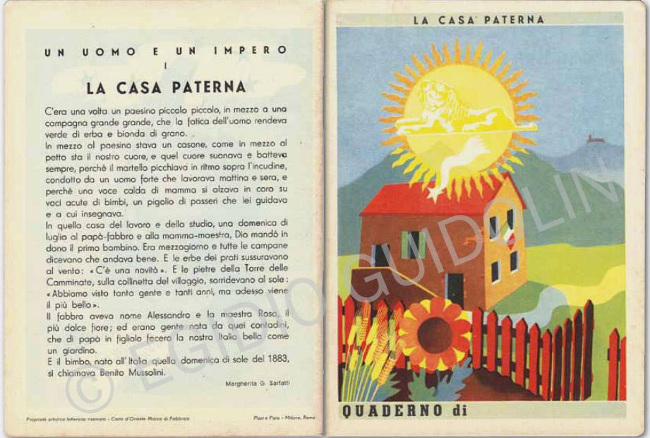 """Il quaderno con la """"casa paterna"""""""