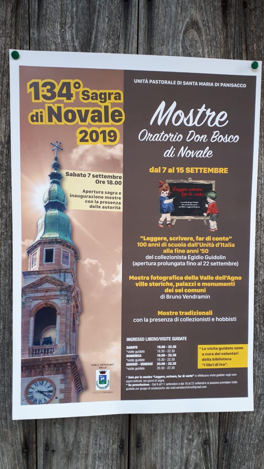 """Inaugurazione della nuova mostra """"Leggere, scrivere, far di conto…"""" a Novale (VI)"""